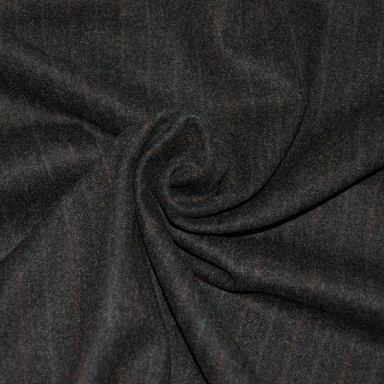 Костюмная ткань : Шерсть-100%, Бежевый, Коричневый, Полосы