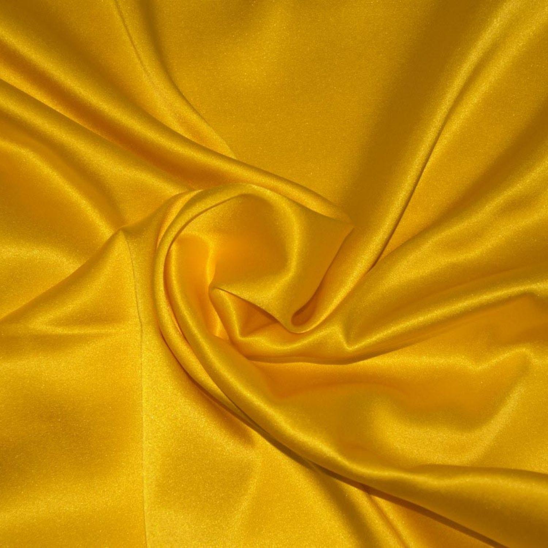 Атласный шелк Стрейч : Шелк-97%, Эластан-3%, Желтый