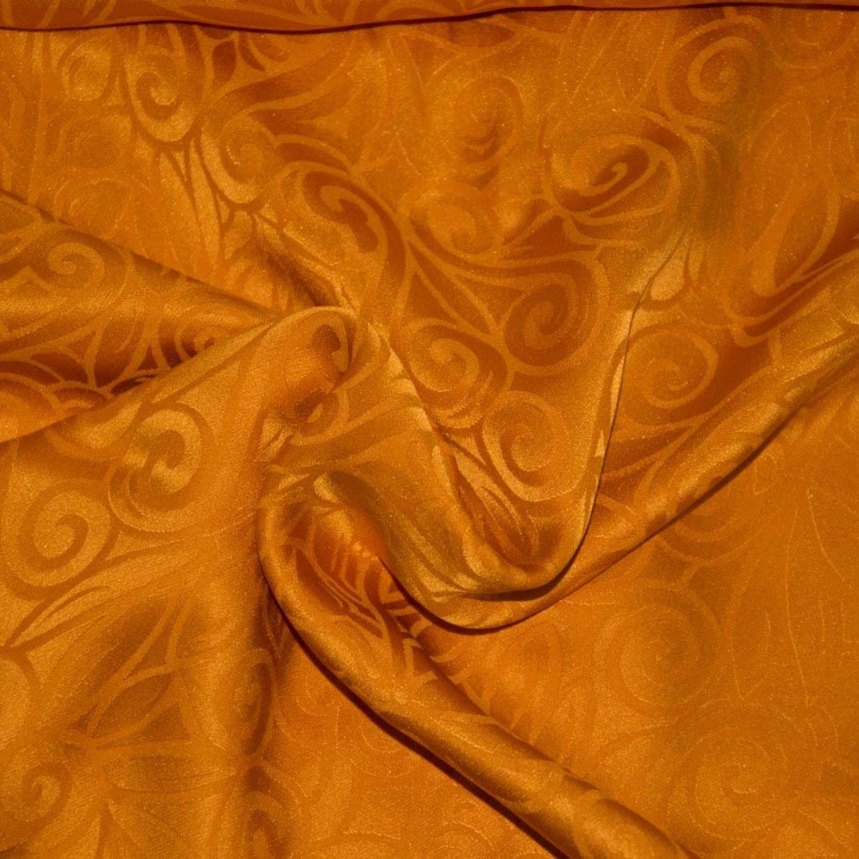 Жаккард: Шелк-100%, Желтый, Золотой, Оранжевый