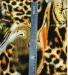 Бархат Roberto Cavalli : Шелк-100%, Желтый, Оранжевый, Черный, Бежевый, Леопардовый