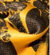 Атласный Купон-платок : Шелк-100%, Желтый, Черный