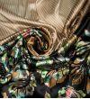 Атласный Купон стрейч Emanuel Ungaro : Шелк-100%, Бежевый, Желтый, Бирюзовый, Зеленый, Черный