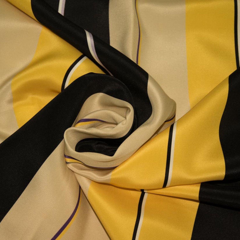 Кади Fendi: Шелк-100%, Полосы, Бежевый, Желтый, Черный, Фиолетовый