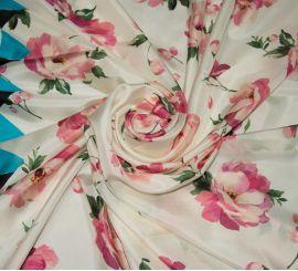 Атласный шелк Blugirl с рисунком цветы