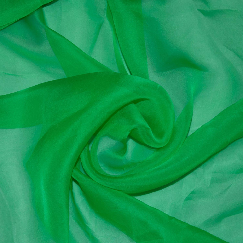Шелковая органза Gucci, зеленая
