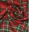 Костюмная ткань Gucci : Шерсть-92%, Коттон-5%, Полиэстер-3%, Красный, Белый, Зеленый, Черный, Клетка