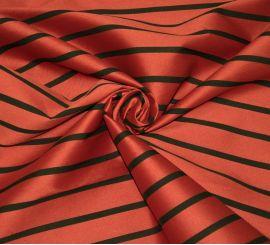 Жаккард D&G красный в полоску